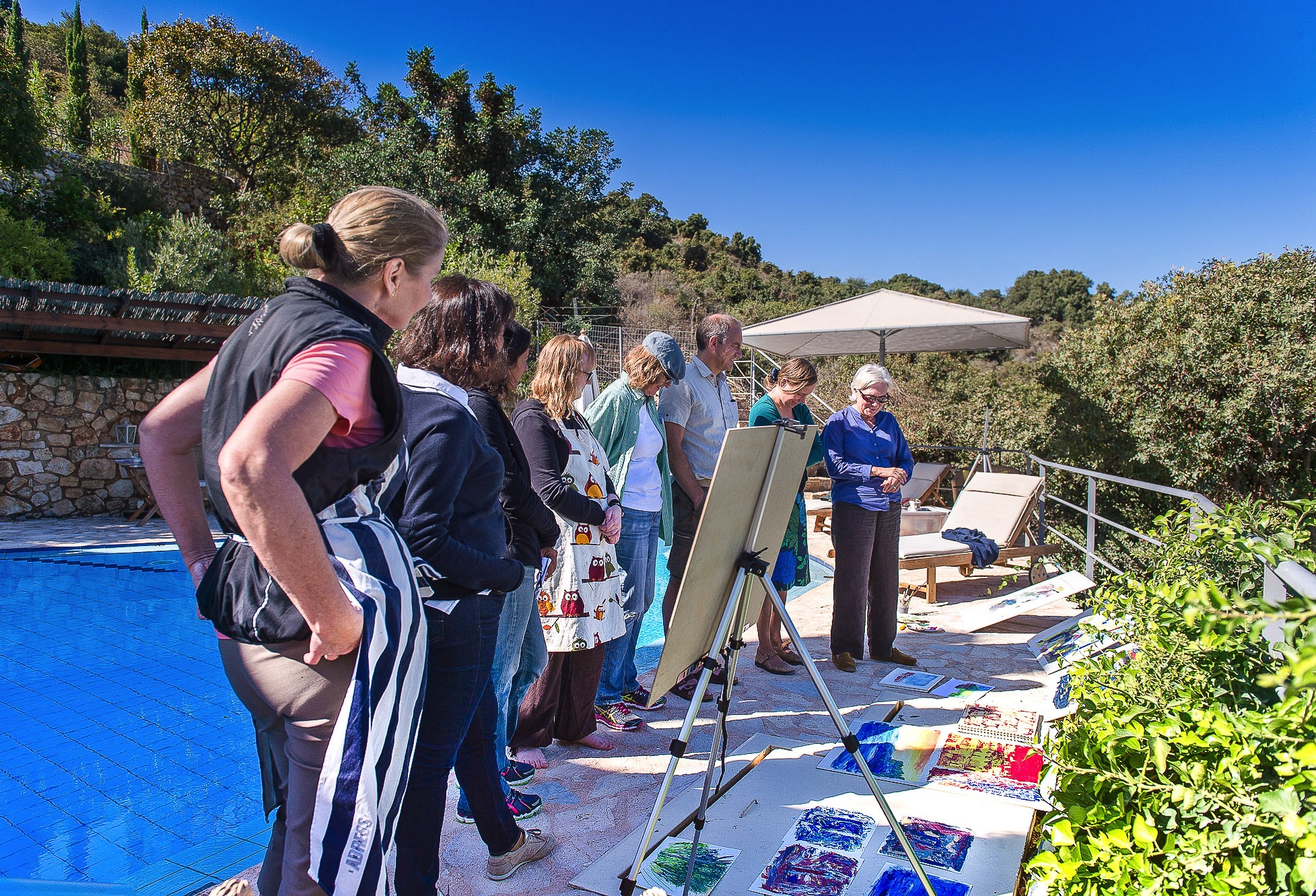 art retreat Crete for beginners and painters